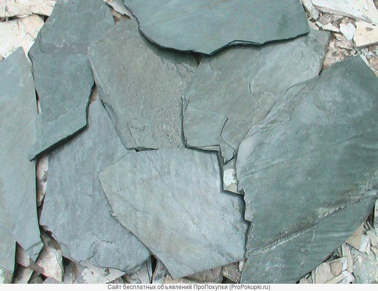 Природный камень, сланец зеленый