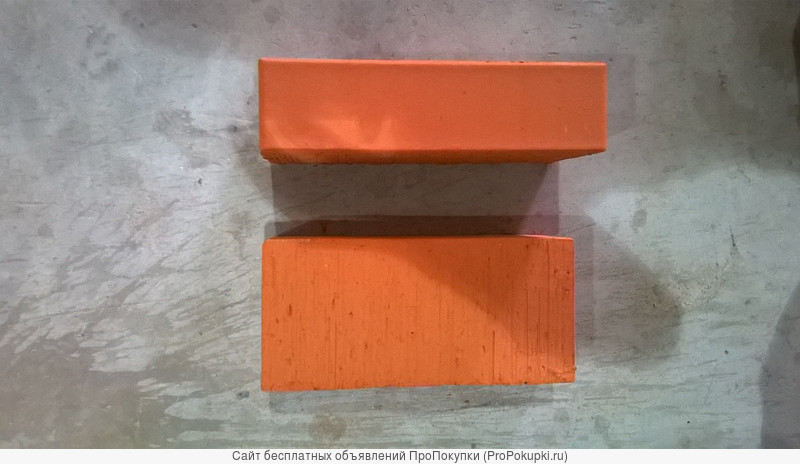 Кирпич 1НФ (одинарный, с фаской) ГОСТ рядовой полнотелый цвет «Персик»