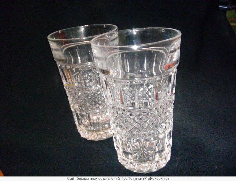 Продаю два стакана из хрусталя - СССР