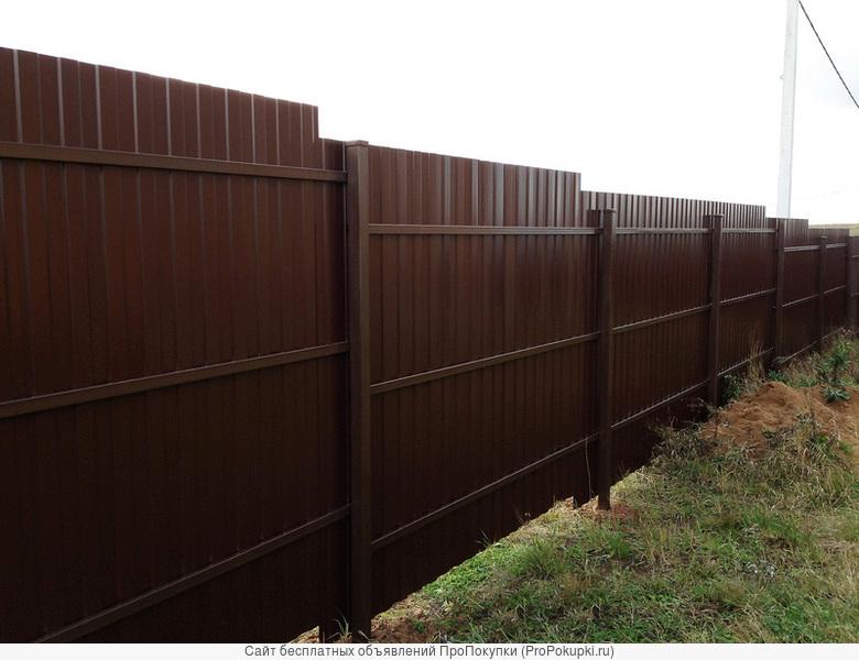 Забор под ключ.Калитки ворота, 3 Д забор