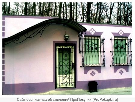 Недорого кованые ворота,козырьки,ограждения в Старом Осколе,Губкине.ЗДК