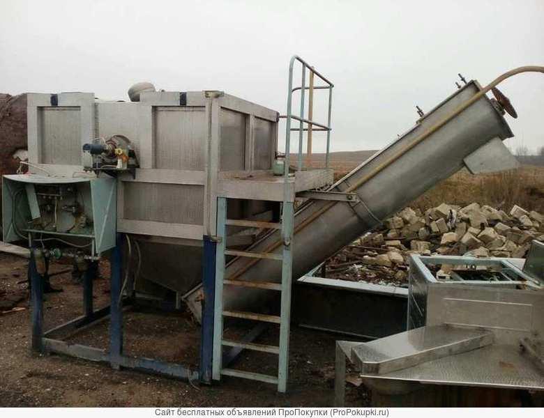 Линия мойки, очистки, подготовки картофеля