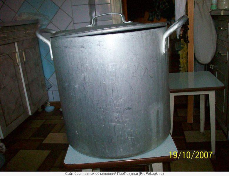 Кастрюля алюминиевая, толстостенная на 30 литров
