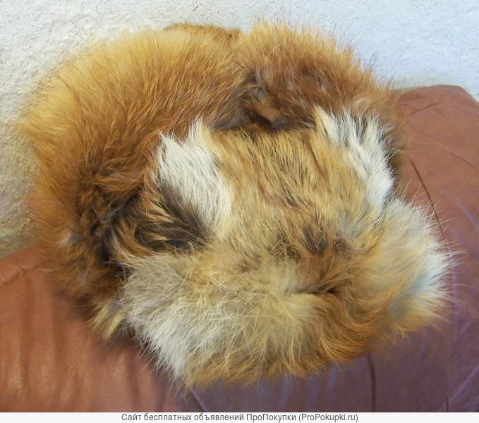 Классическая шапка-ушанка изготовлена из меха лисы. Размер: 58