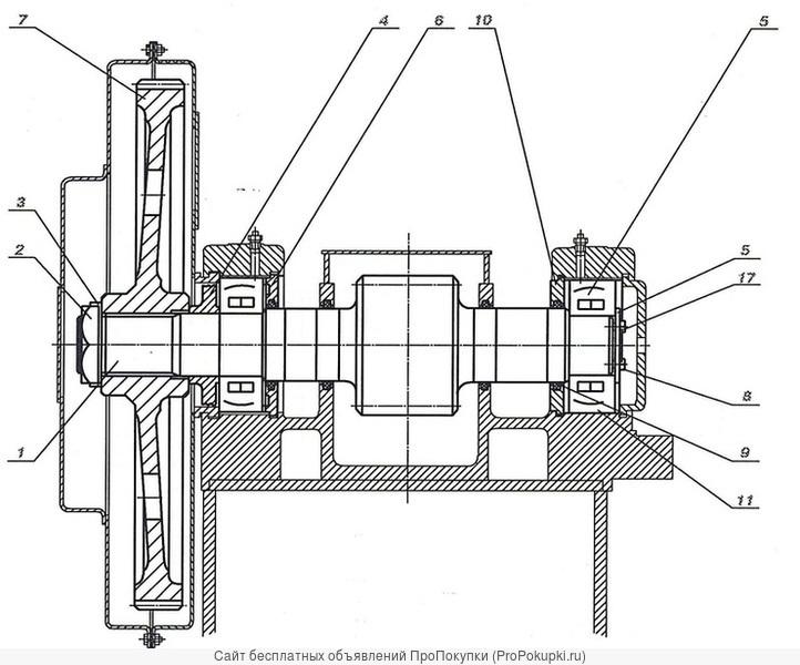 1085.55.350-1СБ Вал промежуточный к экскаватору ЭКГ 5