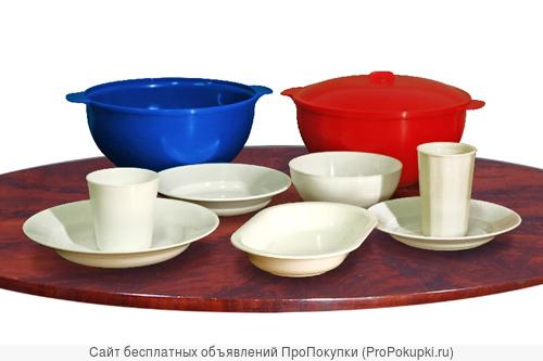 Пластмассовая многоразовая, термостойкая, ударопрочная посуда