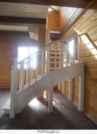 Лестница деревянная на второй этаж