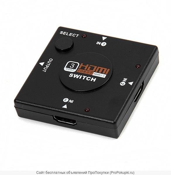 Аренда, прокат в Томске: HDMI Переключатель 3 входа - 1 выход (switch
