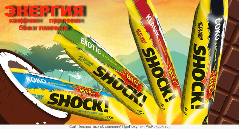 Энергетические соевые батончики BIGSHOCK! (пр-во Чехия)