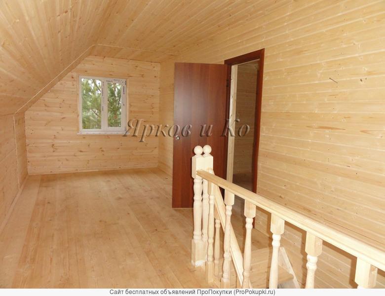 Новый дом с септиком в сосновом лесу, рядом с рекой Вексой