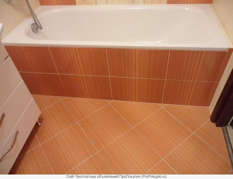 Укладка плитки, мозаики, Ванна, Туалет- Под Ключ