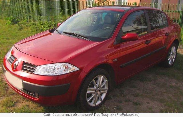 Renault Megane, 2005 Г. В., K4M (1,6Л), АКПП, Седан, Левый РУЛЬ