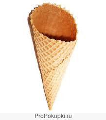 Вафельный сахарный рожок для мороженого