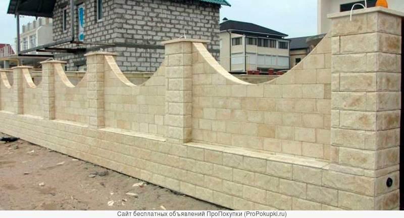Строительство и облицовка фасадов дагестанским камнем (ракушечником)