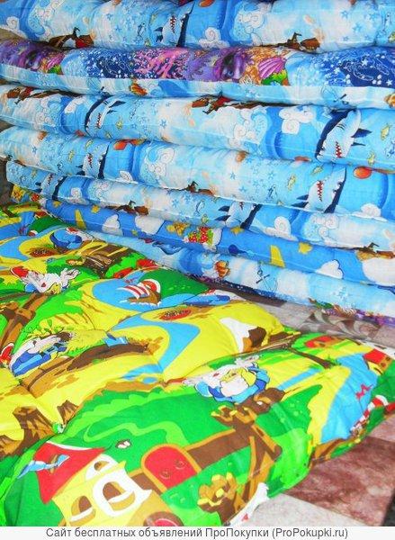 Ватные матрасы, одеяла, подушки детские оптом