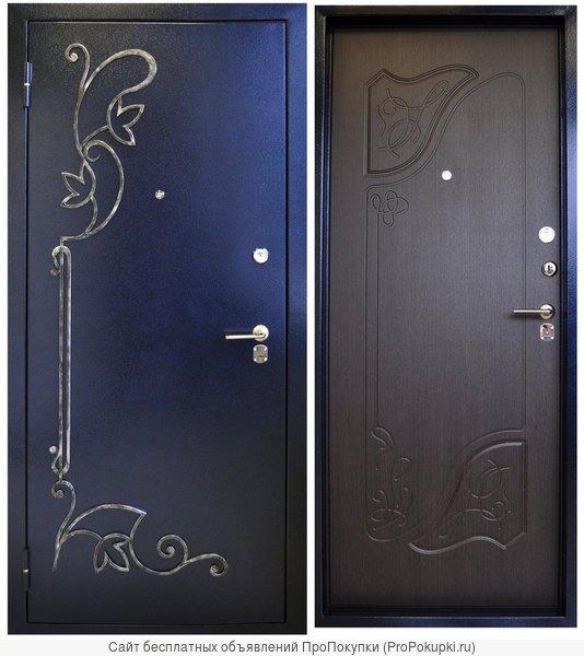 металлические двери с ковкой на заказ