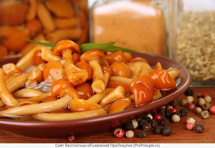 Грибы маринованные, соленые