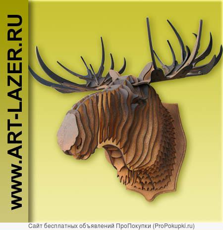 Голова оленя на стену, ручная работа, подарок, для дома и дачи