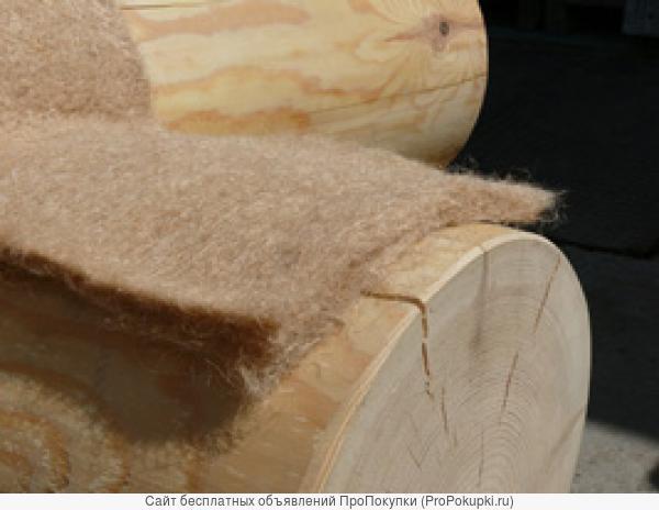 Джут лента 8x150мм, межвенцовый утеплитель (теплоизоляция)
