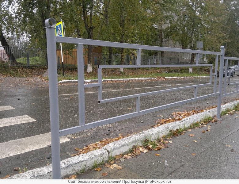 Ограждения газонов, тротуаров, площадок