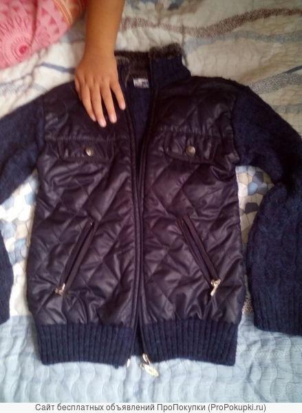 Куртка для мальчика, демисезонная, с меховым воротником