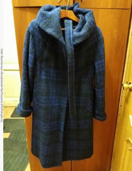 Пальто шерстяное в клетку