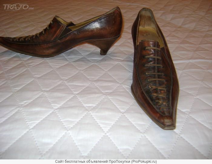 Продам женские туфли 37 кожа Италия ручная работа чуть б/у