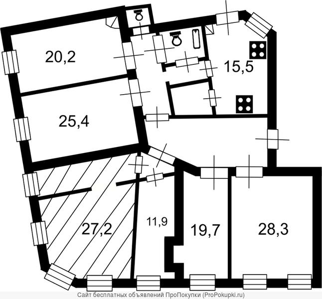 Продается квартира с видом на Пушкарский сад