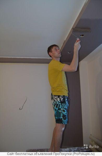 поклейка обоев, ремонт квартир