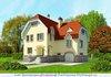 Двухэтажный дом из газобетона на 250 кв. м с фигурной крышей