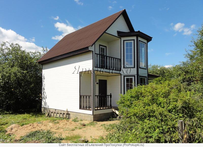 Новый дом с просторной верандой и вишневым садом, рядом с озером