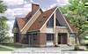 Проект дома из газоблоков 12х14 м с мансардой и фигурной крышей