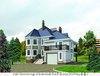 Проект дома из газобетона от 200 кв. м с мансардой и эркером
