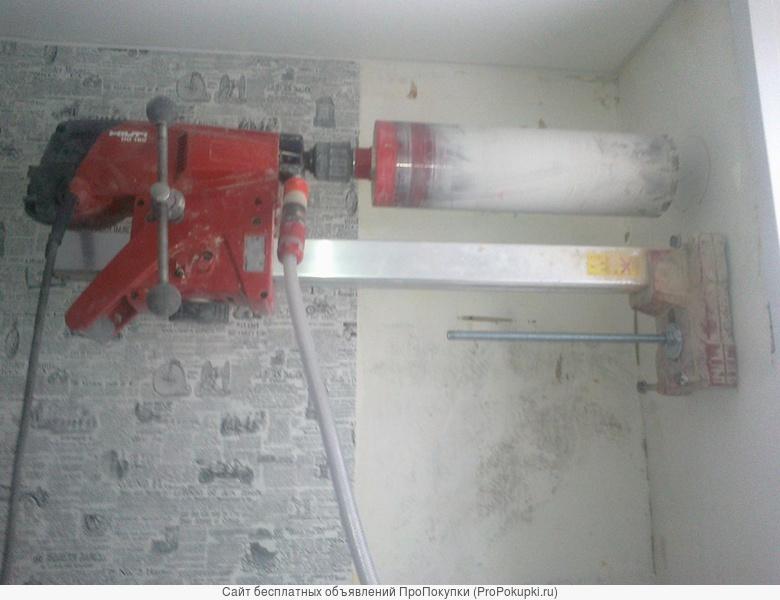 Пробурить отверстие в бетоне. Алмазное бурение. д 35-202 мм