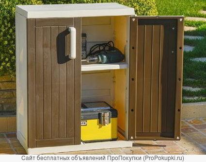 Шкафы и тумбы из пластика