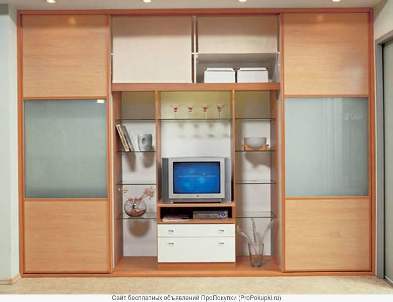 Шкафы купе с нишей под телевизор на заказ