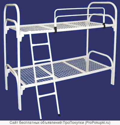 Металлические кровати для пансионата, кровати для студентов, кровати для турбазы, кровати для хостелов