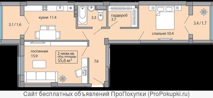 Продаётся 2-х квартира Красная Площадь