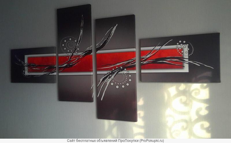 Сегменторованная модульная картина из 4 модулей