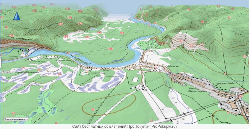 3D карта на ПК и навигаторов для охотников с квартальной сеткой