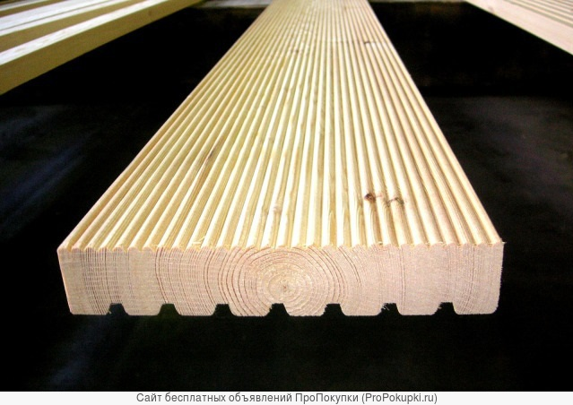 Террасная доска лиственница 27х145 А(прима)