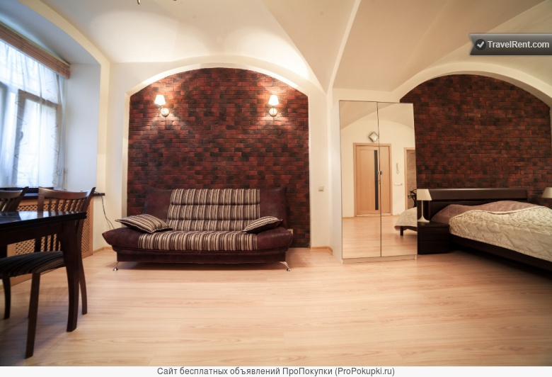 1-комнатная квартира европейского стиля на Невском