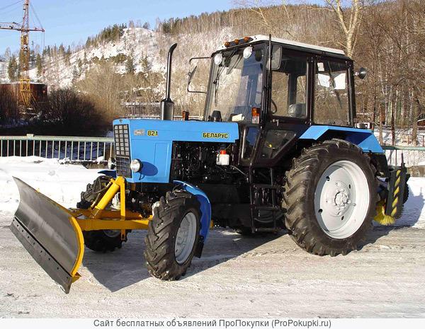 Трактор МТЗ-82 с Отвалом 2,5 м., Щёткой 2 м