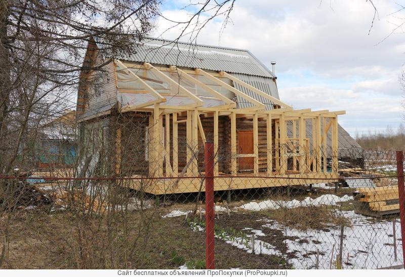 Каркасные дачные домики и пристройки к дому