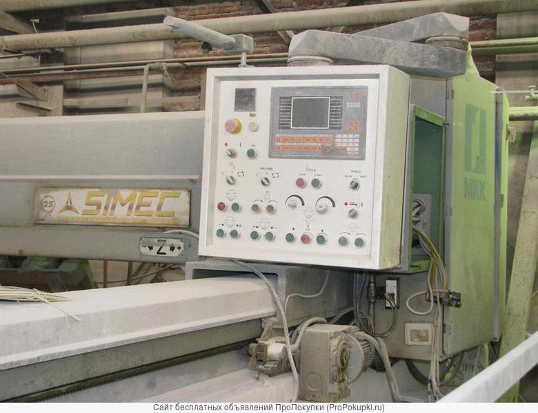 Продается фрезерный станок для распиловки камня Simec. Требует ремонта