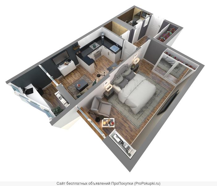 Квартира 1 комнатная в Анапе