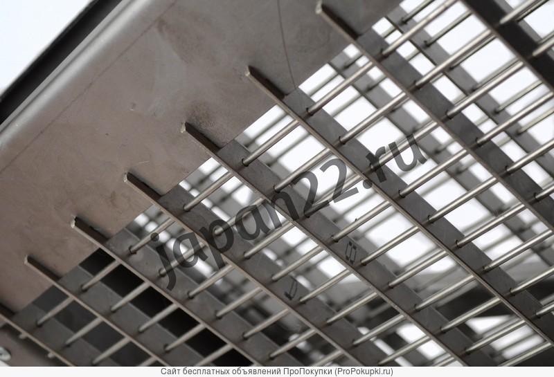 Разборный вертикальный мангал со съемной корзиной из нержавеющей стали
