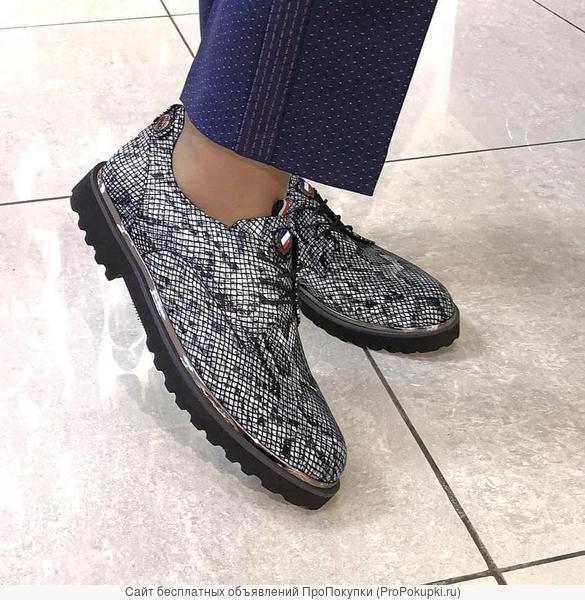Туфли женские из натуральной кожи. Размер 42, 43