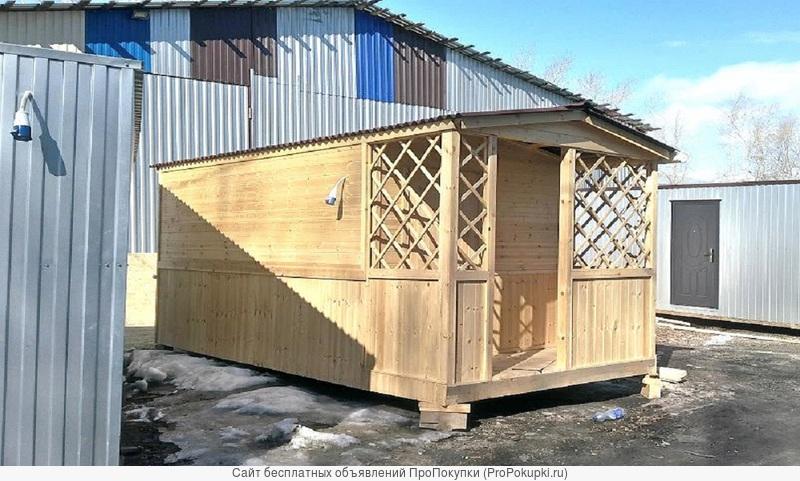 Деревянный домик из вагонки