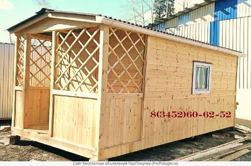 Деревянный дачный домик из вагонки